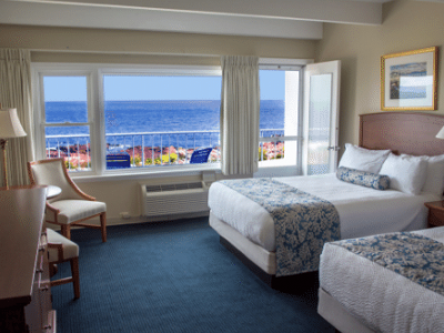Atlantis Oceanfront Inn Mid Level Room Two Queen Beds
