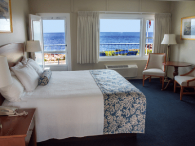 Atlantis Oceanfront Inn Top Level Room King Bed
